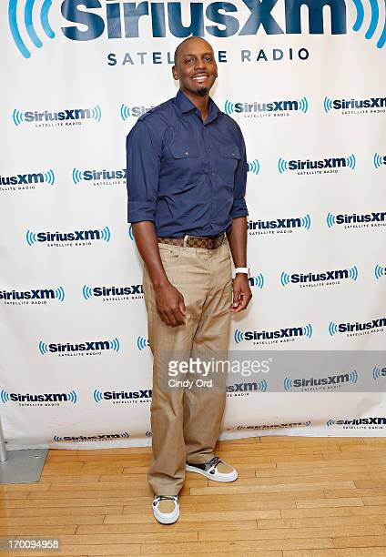 Former NBA player Anfernee 'Penny' Hardaway visits the SiriusXM Studios on June 6 2013 in New York City