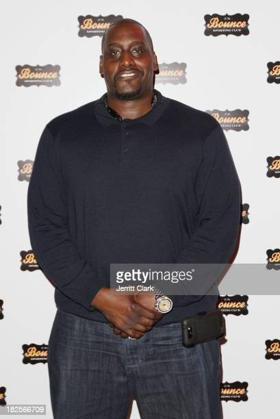 Former NBA Player Anthony Mason attends the 2 year anniversary party at Bounce Sporting Club on September 17, 2013 in New York City.