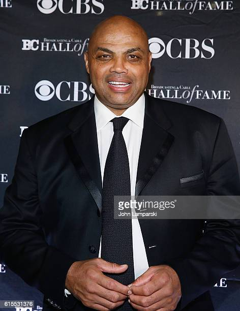 Former NBA player Charles Barkley attends 2016 Broadcasting Cable Hall of Fame 26th Anniversary Gala at The Waldorf=Astoria on October 18 2016 in New...