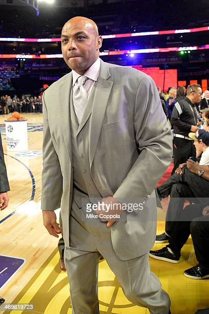 Former NBA Player Charles Barkley attends the State Farm AllStar Saturday Night during the NBA AllStar Weekend 2014 at The Smoothie King Center on...