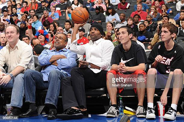 Former NBA player Cutino Mobley watches the game betweenthe Los Angeles Clippers and the Miami Heat on January 10 2010 at Staples Center in Los...