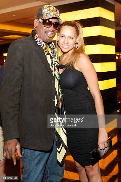 Former NBA player Dennis Rodman and daughter Alexis Rodman arrive at Hawaiian Tropic Zone's 'Torrid' Nightclub inside the Planet Hollywood Resort...