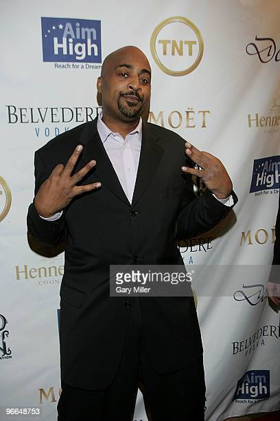 Former NBA player Dennis Scott on the red carpet for the Kenny Smith AllStar Bash at Deux Lounge on February 12 2010 in Dallas Texas