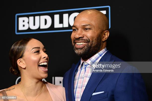 Former NBA player Derek Fisher and television personality Gloria Govan arrive at the premiere of Open Road Films' Sleepless at the Regal LA Live...