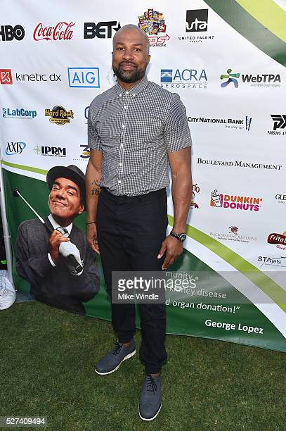 Former NBA player Derek Fisher attended the 9th Annual George Lopez Celebrity Golf Classic to benefit The George Lopez Foundation on Monday May 2nd...
