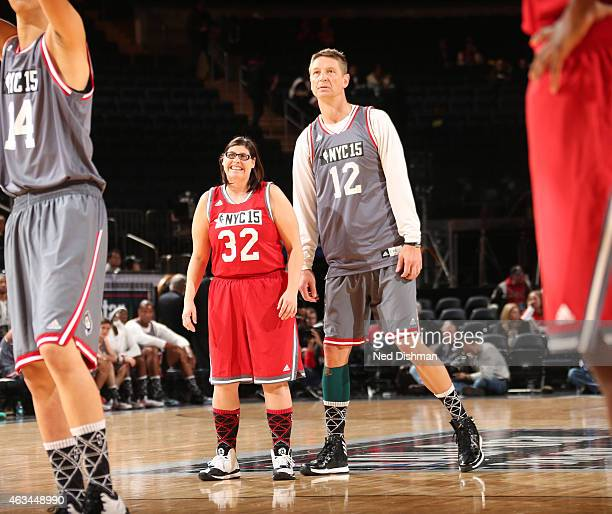 Former NBA Player Detlef Schrempf looks on during NBA Cares Special Olympics Unified Sports Game as part of 2015 AllStar Weekend at Madison Square...