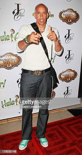 Former NBA player Doug Christie attends the premiere party for VH1's 'BasketBall Wives LA' at Alta Hollywood on August 29 2011 in Hollywood California