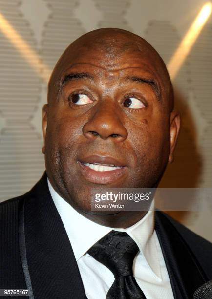 """Former NBA player Earvin """"Magic"""" Johnson appears at City of Hope's Music and Entertainment Industry's Spirit of Life Gala in the Diamond Ballroom at..."""