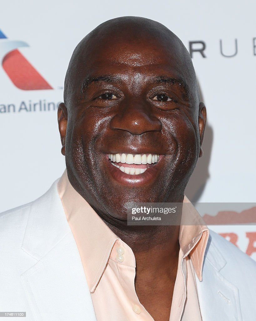 Former NBA Player Earvin 'Magic' Johnson attends the 15th annual DesignCare charity event on July 27, 2013 in Malibu, California.
