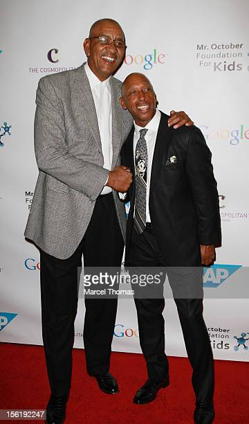 Former NBA player George 'The Iceman' Gervin and singer Jeffrey Osborne attend the 8th All Star Celebrity Classic benefiting the Mr October...