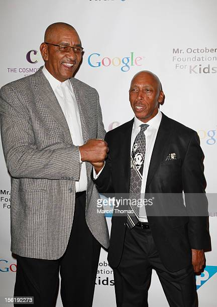 Former NBA player George The Iceman Gervin and singer Jeffrey Osborne attend the 8th All Star Celebrity Classic benefiting the Mr October Foundation...