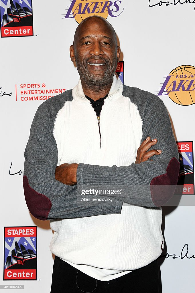 Former NBA player James Worthy attends the Los Angeles Sports and Entertainment Commission's 10th annual Lakers All-Access event at Staples Center on November 20, 2013 in Los Angeles, California.