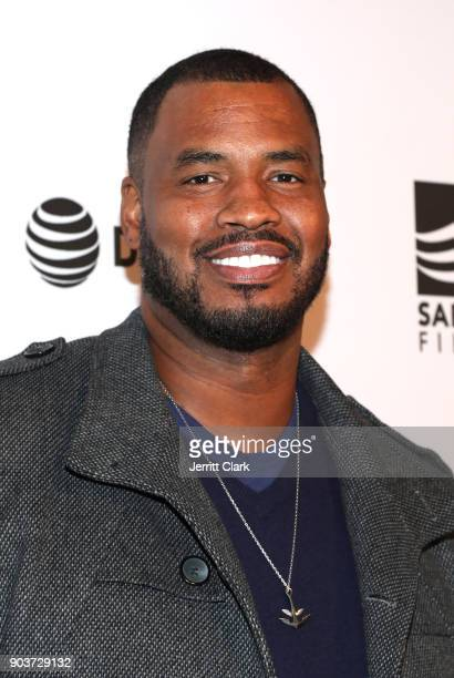 """Former NBA player Jason Collins attends a Special Screening Of """"Small Town Crime"""" at the Vista Theatre on January 10, 2018 in Los Angeles, California."""