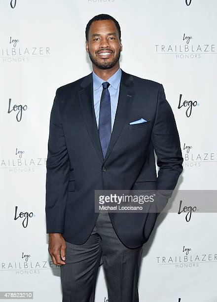 """Former NBA player Jason Collins attends Logo's """"Trailblazer Honors"""" 2015 at the Cathedral of St. John the Divine on June 25, 2015 in New York City."""