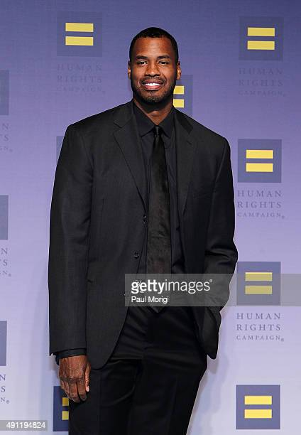 Former NBA player Jason Collins attends the 19th Annual HRC National Dinner at the Walter E. Washington Convention Center on October 3, 2015 in...