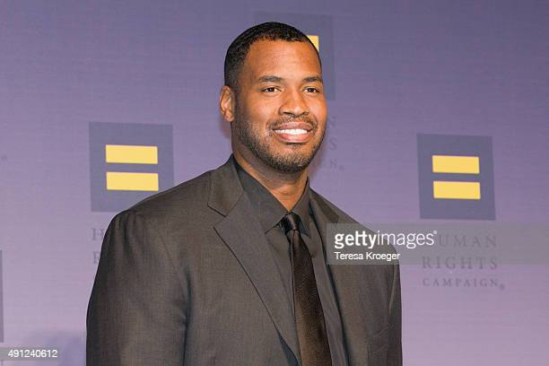 Former NBA player Jason Collins attends the 19th Annual HRC National Dinner at Walter E. Washington Convention Center on October 3, 2015 in...