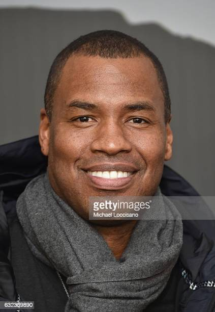 Former NBA player Jason Collins attends the 'Walking Out' premiere on day 3 of the 2017 Sundance Film Festival at Library Center Theater on January...