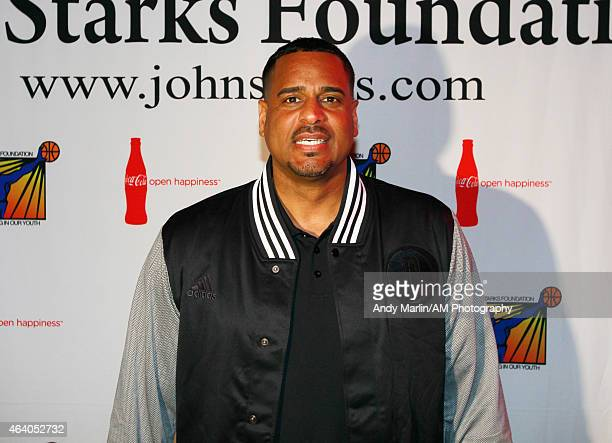 Former NBA player Jayson Williams poses for a photo during the John Starks Foundation Celebrity Bowling Night on February 18 2015 at Lucky Strike...