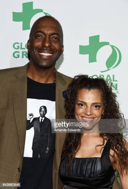 Former NBA player John Salley and Natasha Duffy arrive at the 14th Annual Global Green PreOscar Gala at TAO Hollywood on February 22 2017 in Los...