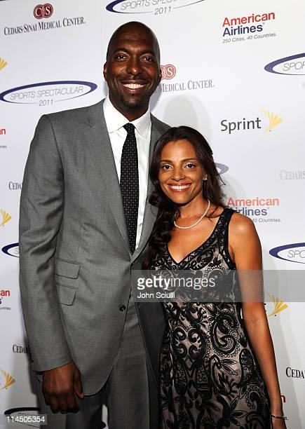 Former NBA player John Salley and Natasha Duffy arrive at the 2011 Cedars Sinai Sports Spectacular at Hyatt Regency Century Plaza on May 22 2011 in...