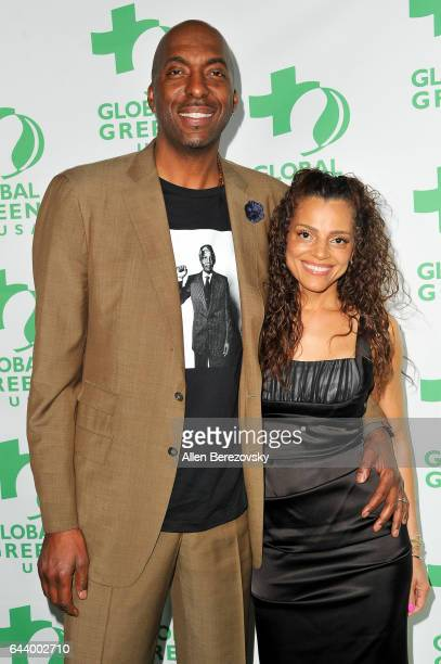 Former NBA player John Salley and Natasha Duffy attend the 14th Annual Global Green PreOscar Gala at TAO Hollywood on February 22 2017 in Los Angeles...
