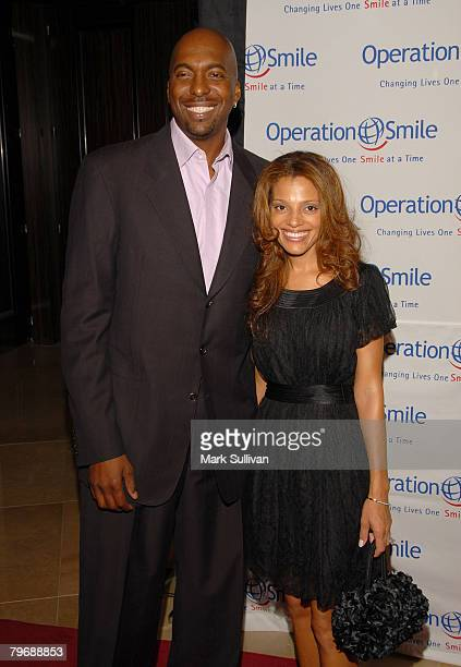 Former NBA player John Salley and wife Natasha Duffy arrive at Operation Smile's 25th Annual Gala held in Beverly Hills California on October 5 2007