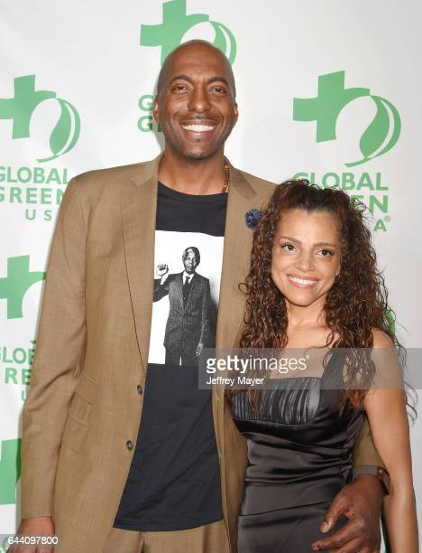 Former NBA player John Salley and wife Natasha Duffy arrive at the 14th Annual Global Green PreOscar Gala at TAO Hollywood on February 22 2017 in Los...