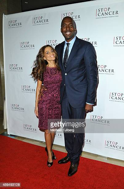 Former NBA player John Salley and wife Natasha Salley attend Stop Cancer's Annual Gala Honoring Lori And Michael Milken at The Beverly Hilton Hotel...