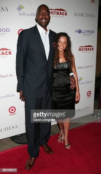 Former NBA player John Salley and wife Natasha Salley attend the HollyRod Foundation's 11th Annual DesignCare Fundraiser at a private residence on...