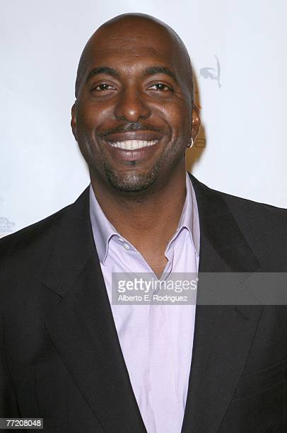 Former NBA player John Salley arrives at the Runway Magazine launch party held at Area nightclub on October 5 2007 in West Hollywood California