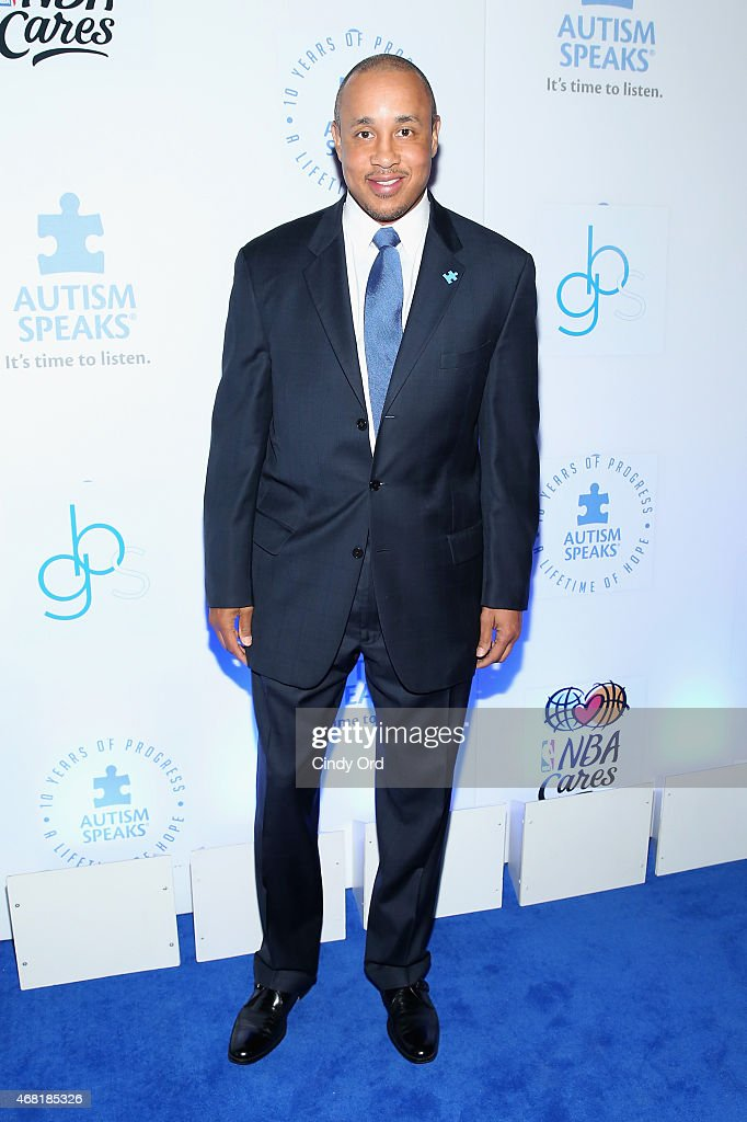 Former NBA Player John Starks attends the Autism Speaks Tip-off For A Cure 2015 on March 30, 2015 in New York City.