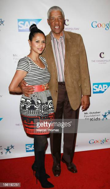Former NBA player Julius Dr J Erving and wife Dorys Erving attend the 8th All Star Celebrity Classic benefiting the Mr October Foundation for Kids at...