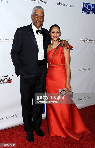 Former NBA player Julius Erving and his wife Dorys Erving arrive at the 12th Annual Harold Pump Foundation Gala on August 10 2012 in Los Angeles...