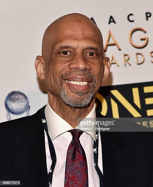 Former NBA player Kareem Abdul Jabar attends the 47th NAACP Image Awards NonTelevised Awards Ceremony on February 4 2016 in Pasadena California
