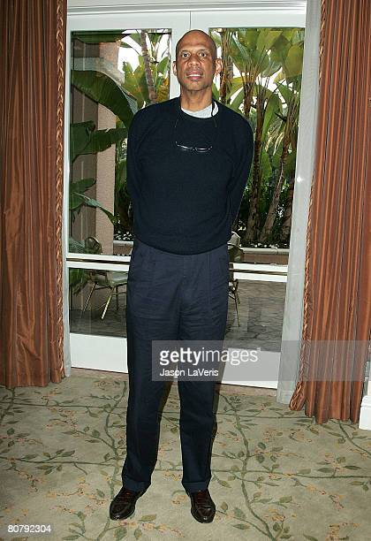 Former NBA player Kareem AbdulJabbar attends The Children of the Smokey Robinson Foundation Annual Gala at the Beverly Hills Hotel on April 20 2008...