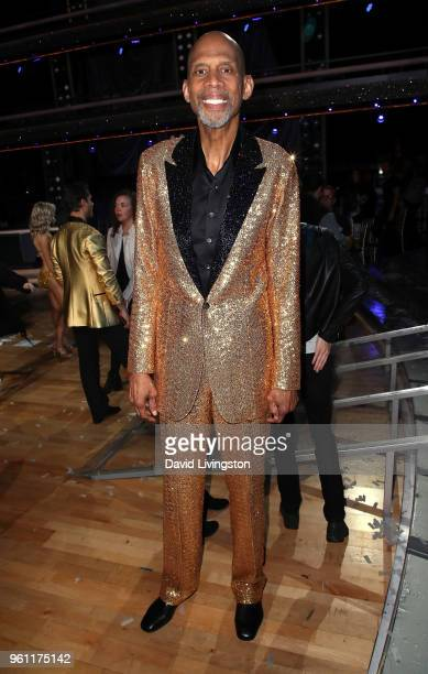 Former NBA player Kareem AbdulJabbar poses at ABC's 'Dancing with the Stars Athletes' Season 26 Finale on May 21 2018 in Los Angeles California