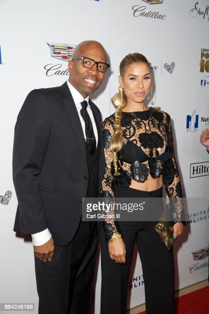Former NBA player Kenny Smith and actress Gwendolyn OsborneSmith attend Ebony Magazine's Ebony's Power 100 Gala at The Beverly Hilton Hotel on...