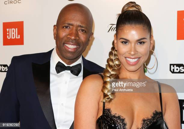 Former NBA Player Kenny Smith and his Wife Gwendolyn OsborneSmith attend Kenny The Jet Smith's annual AllStar bash presented By JBL at Paramount...