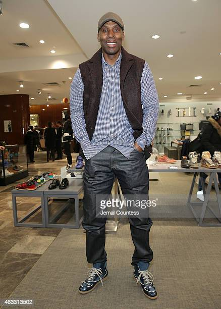 Former NBA player Kevin Willis attends the NBA AllStar Sneaker Style Cocktail With Brooklyn Net Jarrett Jack and Kevin Willis hosted by Saks Fifth...