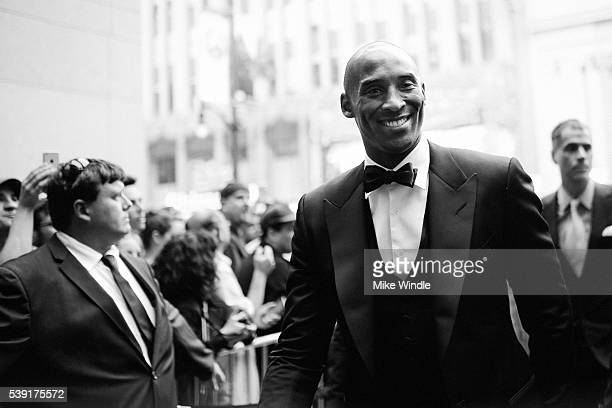 Former NBA player Kobe Bryant arrives at American Film Institute's 44th Life Achievement Award Gala Tribute to John Williams at Dolby Theatre on June...