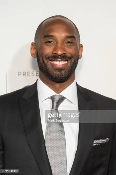 Former NBA Player Kobe Bryant attends the 2017 Tribeca Film Festival's Tribeca Talks Storytellers Kobe Bryant with Glen Keane at BMCC Tribeca PAC on...