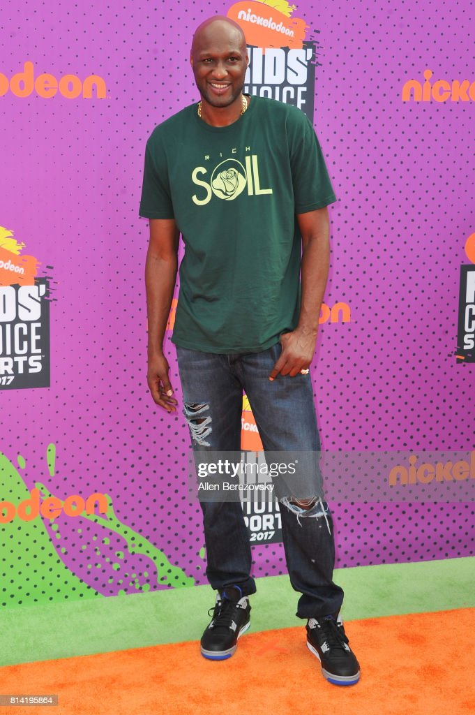 Former NBA player Lamar Odom attends Nickelodeon Kids' Choice Sports Awards 2017 at Pauley Pavilion on July 13, 2017 in Los Angeles, California.