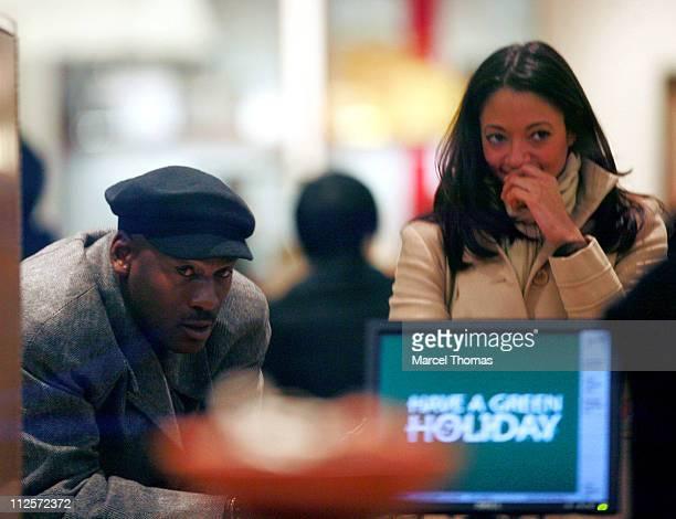 Former NBA player Michael Jordan shops at Barney's Madison Avenue store December 12 2007 in New York City