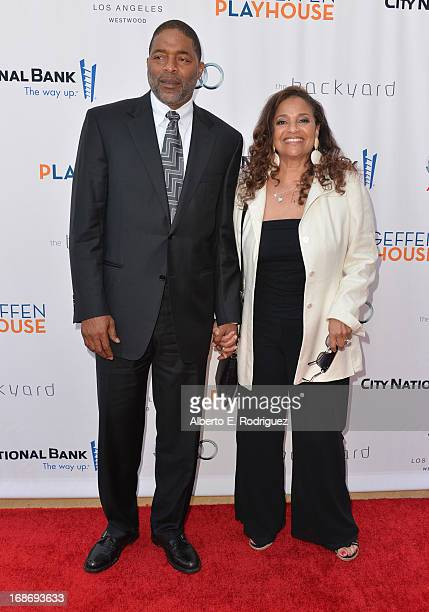 Former NBA player Norm Nixon and actress Debbie Allen arrive to The Geffen Playhouse's Annual Backstage at the Geffen Gala at Geffen Playhouse on May...