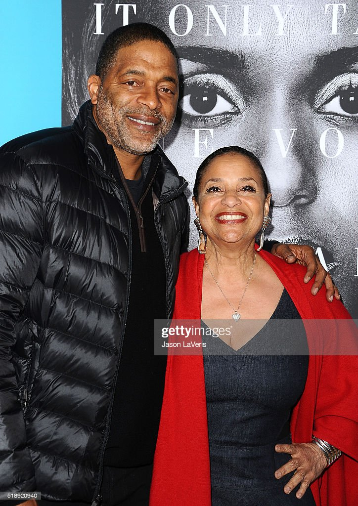 Former NBA player Norm Nixon and actress Debbie Allen attend the premiere of 'Confirmation' at Paramount Theater on the Paramount Studios lot on March 31, 2016 in Hollywood, California.