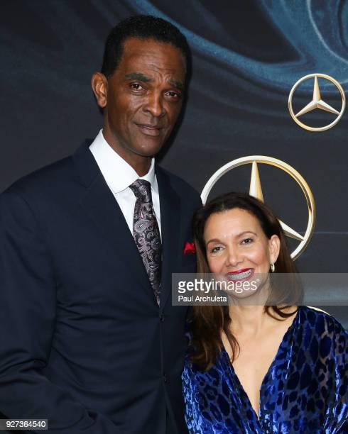 Former NBA Player Ralph Sampson and his his fiancée Patrice Ablack attend MercedezBenz USA's official Awards viewing party at The Four Seasons Hotel...