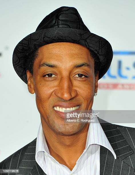 Former NBA player Scottie Pippen arrives to the TMobile Magenta Carpet at the 2011 NBA AllStar Game on February 20 2011 in Los Angeles California