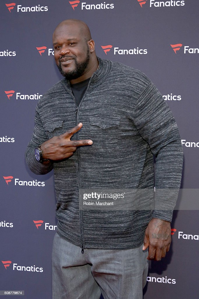 Former NBA player Shaquille O'Neal attends Fanatics Super Bowl Party on February 6, 2016 in San Francisco, California.