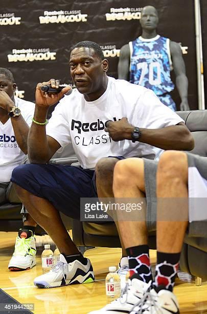 Former NBA player Shawn Kemp at the Reebok Classic Breakout Classic Rap Roundtable at Philadelphia University on July 9 2014 in Philadelphia...