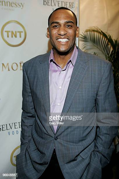 Former NBA player Steve Smith on the red carpet for the Kenny Smith AllStar Bash at Deux Lounge on February 12 2010 in Dallas Texas